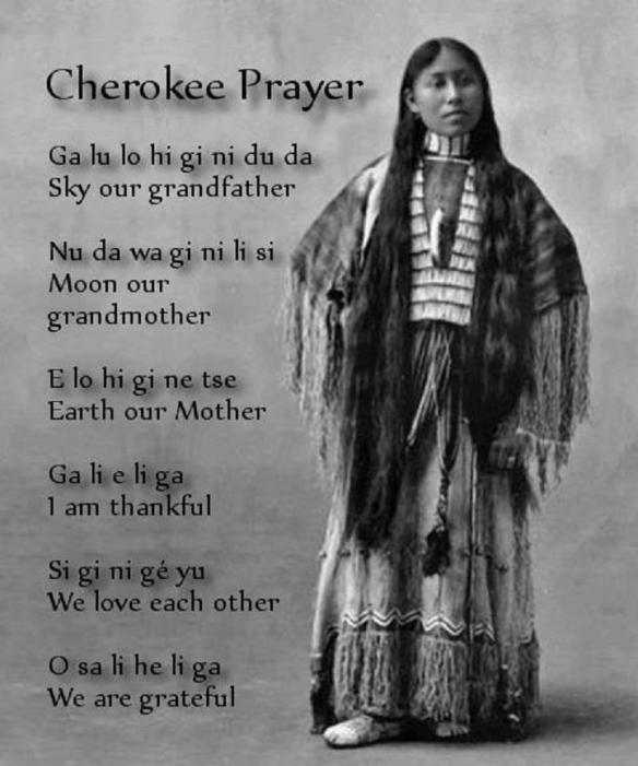 cherokee prayer of grace